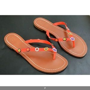 TORY BURCH Leather Sandals in Box EUC size 9